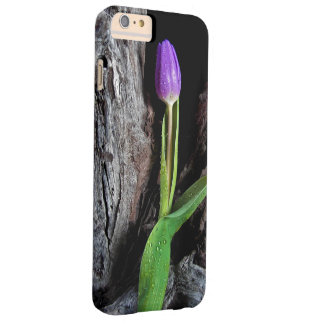 deep purple tulip on driftwood barely there iPhone 6 plus case