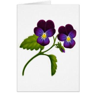 Deep Purple Violas Card