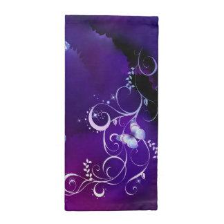 Deep Purple Watercolor Butterfly  American MoJo Na Cloth Napkins