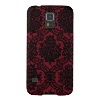 Deep red and black damask. galaxy s5 cover