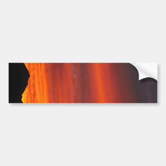 Deep red Arizona sunset Bumper Sticker