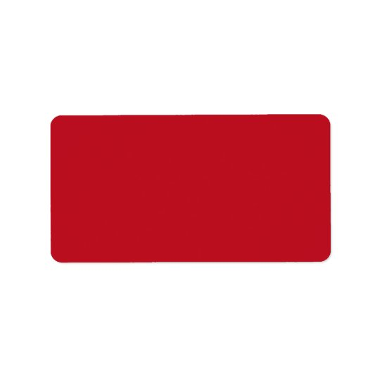 Deep red background blank custom label address label