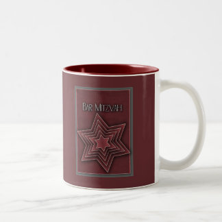 Deep red Bar Mitzvah design Coffee Mug