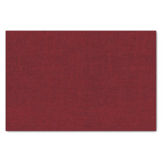 Deep Red Burlap Texture Tissue Paper