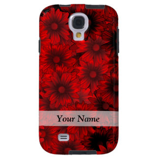 deep red floral pattern galaxy s4 case