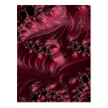 Deep Red Fractal Post Card