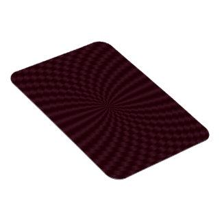 Deep Red Geometric Circles Photo Magnet