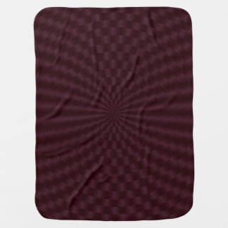 Deep Red Geometric Circles Rings Baby Blanket