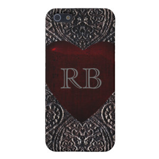 Deep Red Heart Gothic iPhone 5 Case