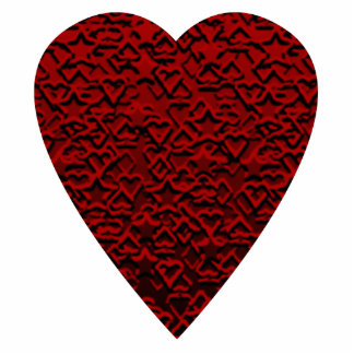 Deep Red Heart. Patterned Heart Design. Photo Cut Outs