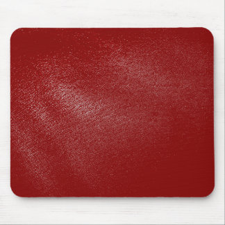 Deep Red Leather Look Mouse Mat