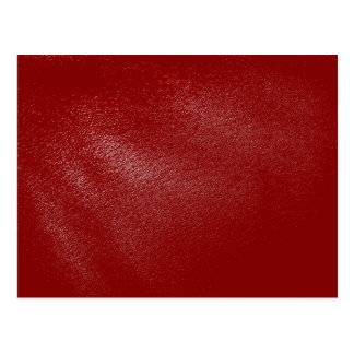 Deep Red Leather Look Postcard