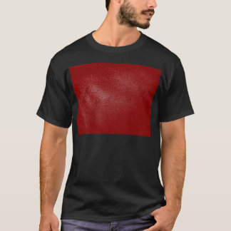 Deep Red Leather Look T-Shirt