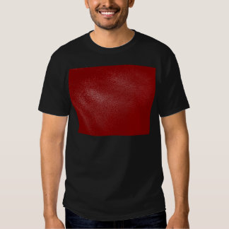 Deep Red Leather Look Tee Shirt