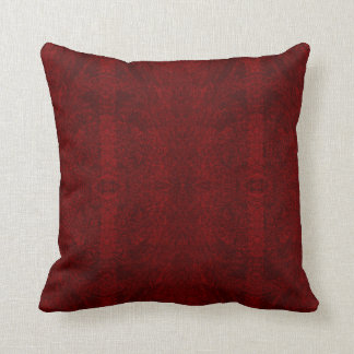 Deep Red Lines Throw Pillow