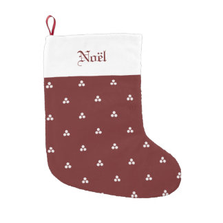 Deep Red Medieval Dot Stocking