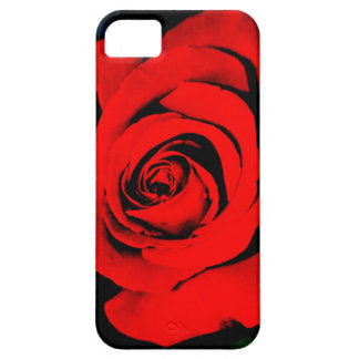 Deep Red Rose Barely There iPhone 5 Case