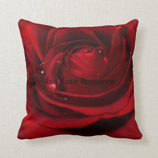 Deep Red Rose Cushion Pillow