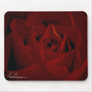 Deep Red Rose Mousepad