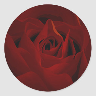 Deep Red Rose Sticker