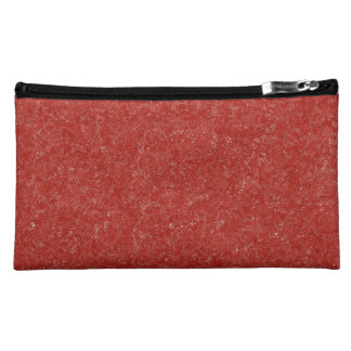 Deep Red With Specs of White Cosmetic Bags