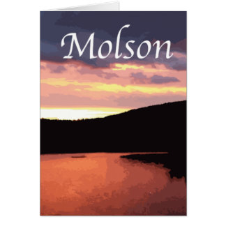 Deep Reds of Molson Lake Sunrise Greeting Cards