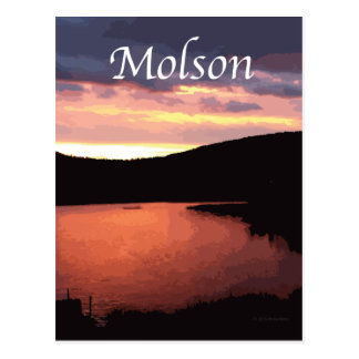 Deep Reds of Molson Lake Sunrise Postcards