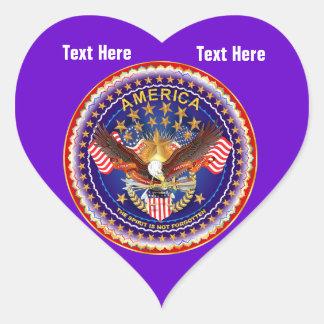 Deep River Heart Sticker