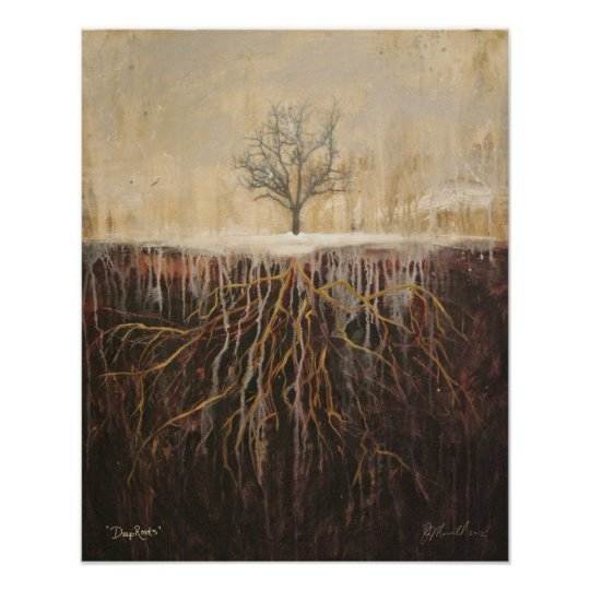 """Deep Roots"" original art by Beth Morrell poster"