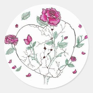 Deep Roses Classic Round Sticker