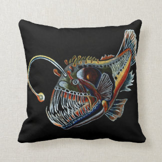 Deep Sea Angler fish design decorative cushion