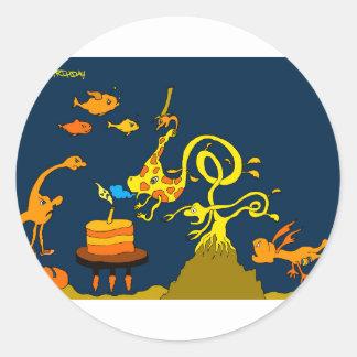 Deep Sea Birthday 5x7.jpg Round Sticker