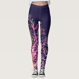 Deep Sea Coral, Colorful Ocean Leggings