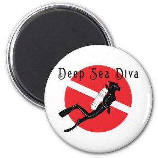 Deep Sea Diva 6 Cm Round Magnet