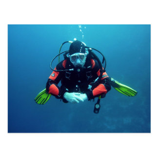 Deep Sea Diver Postcard