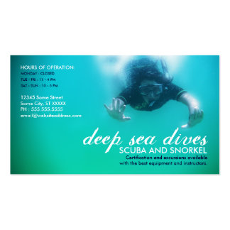 deep sea dives (scuba and snorkel) Double-Sided standard business cards (Pack of 100)
