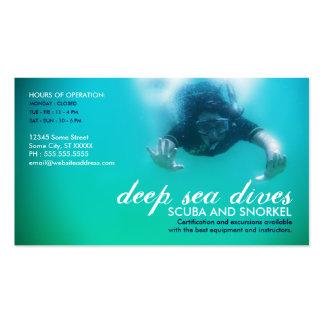 deep sea dives scuba and snorkel business card