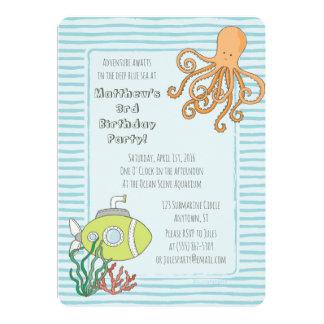 Deep Sea Diving Adventure Party Invitation