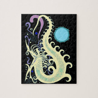 Deep Sea Dragon (Cool Green & Blue) jigsaw puzzle