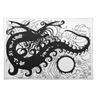 Deep Sea Dragon place mats (Silhouette)