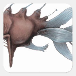 Deep Sea Fish Design Square Sticker