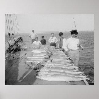 Deep Sea Fishing, 1894. Vintage Photo Poster