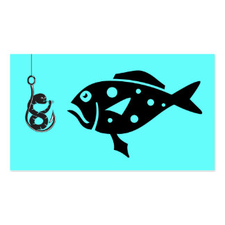 Deep Sea Fishing Charters_Grouper &,Fiesty Worm Pack Of Standard Business Cards