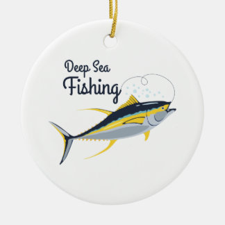Deep Sea Fishing Christmas Ornament