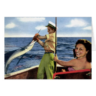 Deep Sea Fishing near Fort Lauderdale Florida Greeting Card