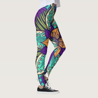 Deep Sea Flora Original Leggings
