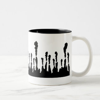Deep-sea Hydrothermal vent Two-Tone Coffee Mug