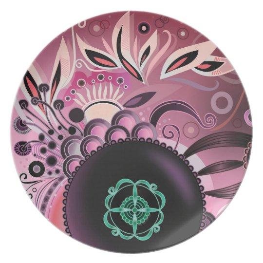 Deep sea III, purple Plate