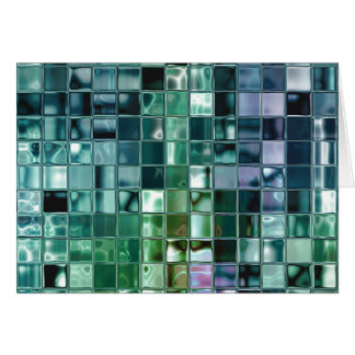 Deep Sea Liquid Mosaic Tile Art Greeting Card