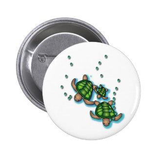 Deep Sea Turtles Button
